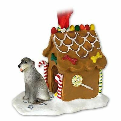 Irish Wolfhound Dog Ginger Bread Gingerbread House Christmas ORNAMENT