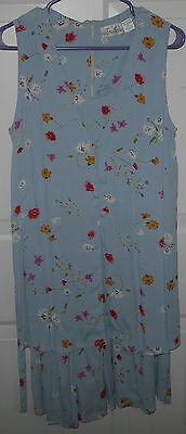 OH MAMA Women's Large Maternity Jumper Blue Floral