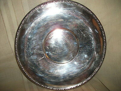 Wallace silver round tray platter Charger? #73018 11 1/2""