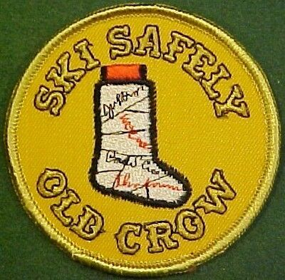 Old Crow Whiskey Ski Safely Patch