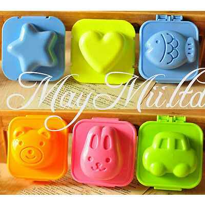 6 Pcs Boiled Egg Sushi Rice Mold Bento Maker Sandwich Decorating Mould New BS