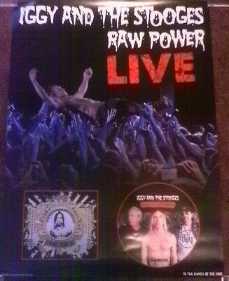 IGGY POP and THE STOOGES Record Store Day RSD PROMO POSTER for ATP CD 2012 NEW