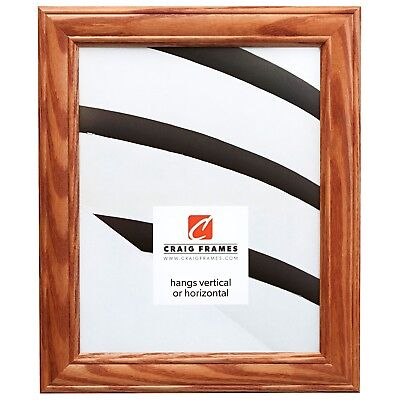 Craig Frames Wiltshire 595, Natural Brown Wood Picture Frames, Panoramic Size