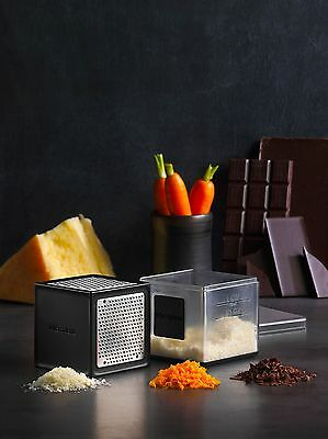 New Microplane Cube Grater Catcher Box Zester Slicer Stainless Steel USA  Choice