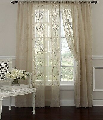 Quot Sheer Panel Window Treatments Curtains Drapes Valance Quot