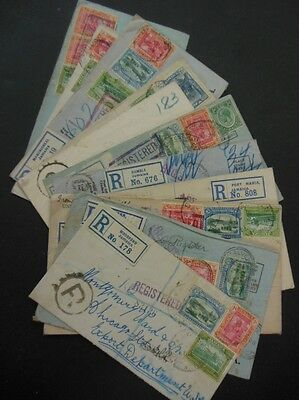 JAMAICA : 11 covers from 1920s including 9 Reg all from diff. cities or towns.