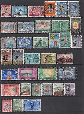 Ceylon pre-1963 collection 80 diff stamps