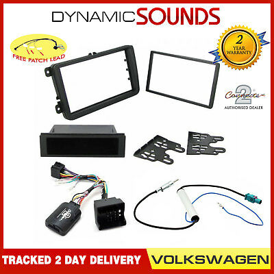 Car Stereo Fascia Fitting Kit Steering Wheel Control for VW Volkswagen EOS 2008>