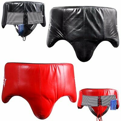 POWERSTAR Boxing Groin Guard Kick Training Protector Mens Safety Gear Abdo MMA