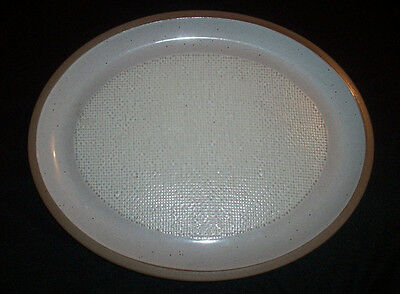 """Wedgwood Midwinter Stoneware: HOPSACK: Retired 12"""" Oval Serving Platter: EXC: NR"""