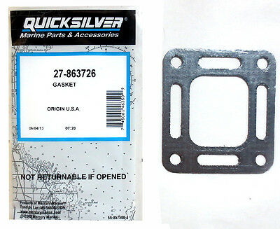(1) Genuine MerCruiser Center-Rise Riser Gasket - 27-87105, 27-860232, 27-863726