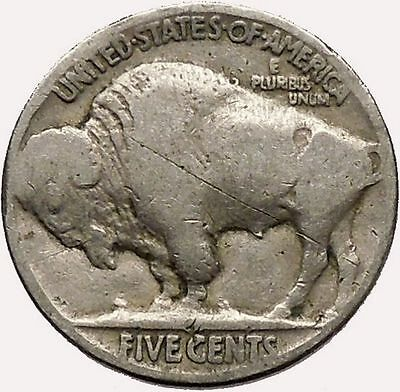 1920 BUFFALO NICKEL 5 Cents of United States of America USA Antique Coin i43584