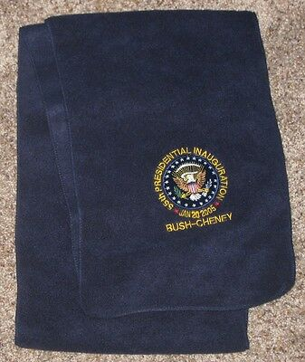 Official 2005 Bush & Cheney Presidential Inauguration Lap Scarf
