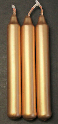 """Lot of 3 Chime Spell Candles: Gold, Mini 4"""" (NEW) Pagan, Wicca, Altar, Ritual"""
