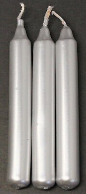 """Lot of 3 Chime Spell Candles: Silver, Mini 4"""" (NEW) Pagan, Wicca, Altar, Ritual"""