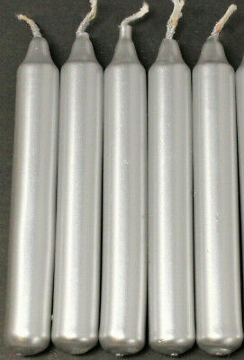 """Lot of 5 Chime Spell Candles: Silver, Mini 4"""" (NEW) Pagan, Wicca, Altar, Ritual"""