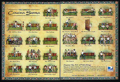2009 Direct TV Heighten Your Experience Kama Theme Coucha Sutra 2 Page Print Ad