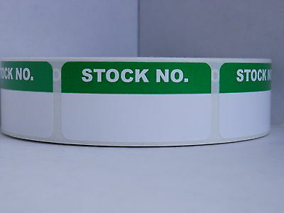STOCK NO. 1x2 Sticker Label Production Inventory Quality 500/rl