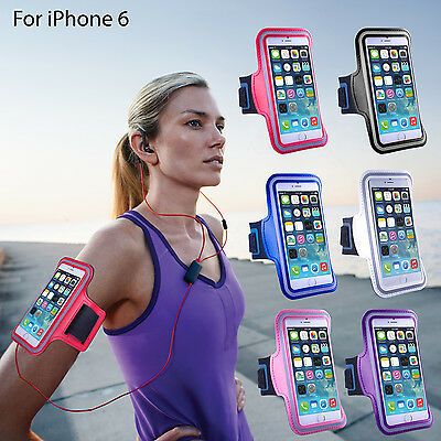 For iPhone 6/6 Plus Sports Gym Armband Case Premium Running Jogging Cover Holder