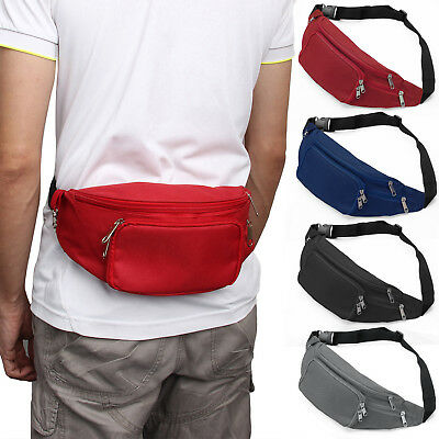 Running Bum Bag Travel Handy Hiking Sport Fanny Pack Waist Belt Zip Pouch