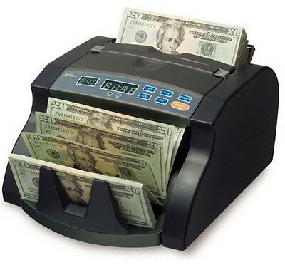 Royal Sovereign RBC650PRO Digital Cash Counter - 130 Bill Capacity - Black