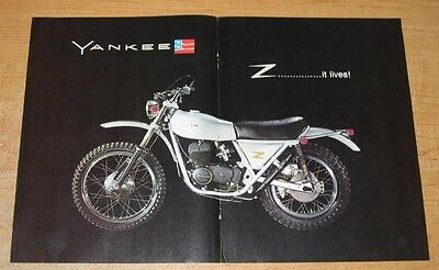 "1972 Ossa Yankee Z 500 ""It Lives!"" Motorcycle Original Color Ad"