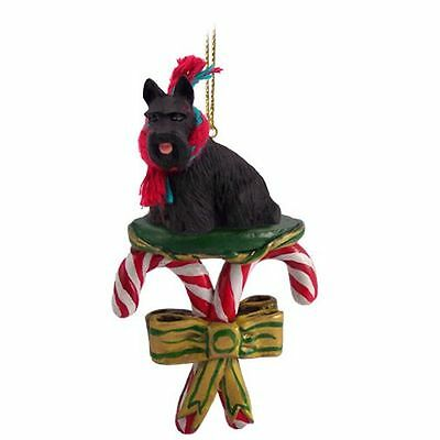 Scottish Terrier Scotty Dog Candy Cane Christmas Tree ORNAMENT