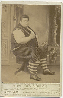 Cabinet Card Photo ~ Indiana's Fat Boy ~ 513 Pounds Circus Freak