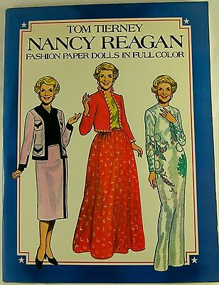 NANCY REAGAN FASHION PAPER DOLLS by Tom Tierney Uncut 31 Outfits 1983 Dover