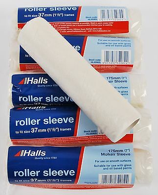 "6 x Halls 175mm (7"") Mohair Gloss & Oil Based Paint Roller Sleeves (HL32082L)"