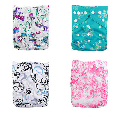 4Baby Washable Reusable Printed Cloth Diaper for Girl +4 Microfiber Insert in US