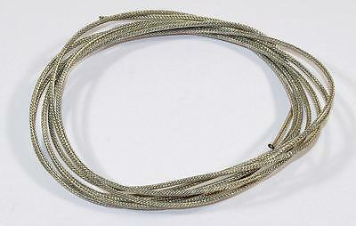 8' Vintage Style Cloth Wire Braided Metal Shield - Single Conductor - ala Gibson
