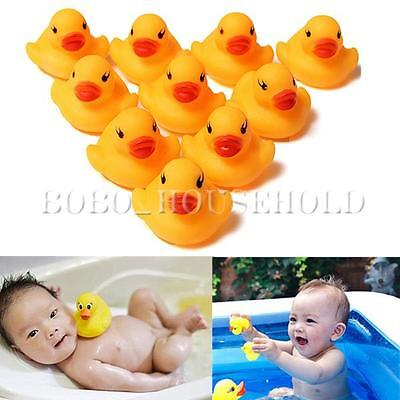10 Baby Kid Cute Bath Rubber Duck Birthday Squeaky Ducky Water Shower Toy Favors