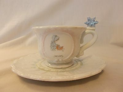 """1994 Precious Moments """"January"""" Cup and Saucer"""