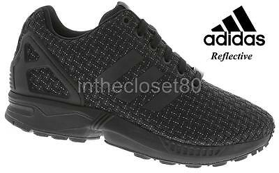 Mens Adidas ZX Flux Triple Black Trainers (TG6) RRP £69.99 Sizes 12 & Above !!!