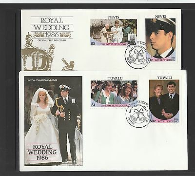 1986 royal wedding for Andrew & Fergie 11 FDCs , see list