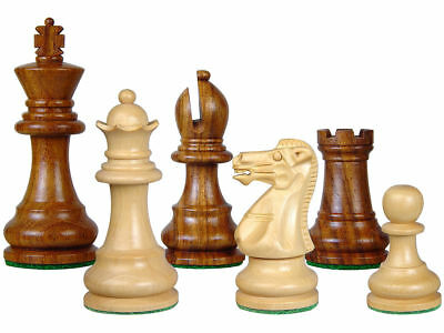 """Monarch Staunton Wood Chess Set Pieces 3"""" Weighted + 2 Extra Queens"""