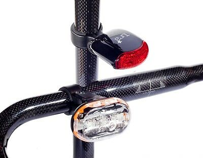 New Tura Cromer Cycle Safety Light Set - Front And Rear - Bike Bicycle Mtb Road