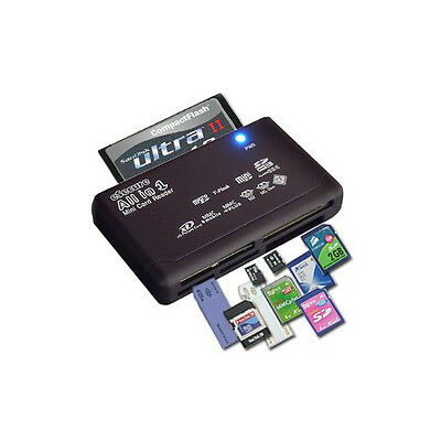 eSecure Memory Card Reader All in-1 USB High Speed Micro SD M2 MS CF XD SDHC MMC