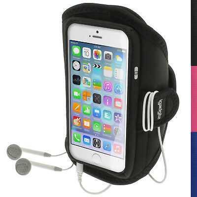 "Black Running Jogging Sports Armband for Apple iPhone 6 & 6S 4.7"" Fitness Gym"
