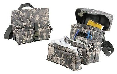 Army Military Deluxe Tactical ACU Digital Camo Medical Kit Bag MOLLE EMT EMS