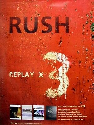 RUSH 2006 replay x 3 promotional poster ~MINT condition~NEW old stock~!!