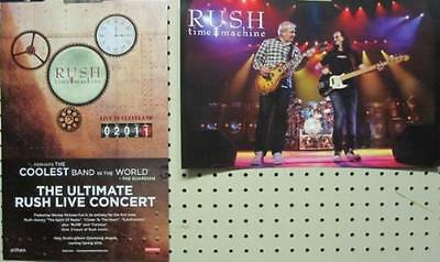RUSH 2011 TIME MACHINE 2 SIDED PROMOTIONAL POSTER ~NEW old stock~MINT condition!