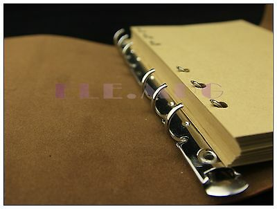 """Replaceable Kraft Blank Paper 7""""x5"""" 7*5in notebook Journal 200 Pages 100 Sheets"""