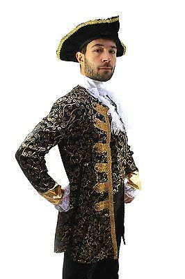 Fancy Dress Aristocrat Pirate Nobleman Captain Baroque Caribbean Medieval Men's