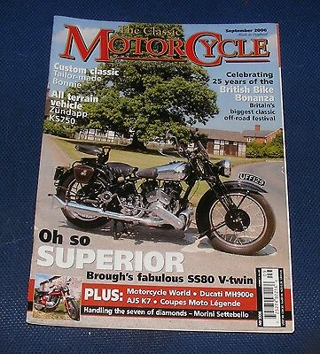 The Classic Motorcycle September 2006 - Oh So Superior