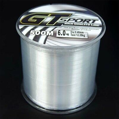 Super Strong 100M/109yards-500M/546yards Mono clear fishing line 2LB-25LB GT