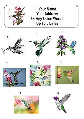 30 Hummingbird Personalized Address Labels