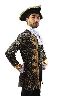 Costume ARISTOCRAT Pirate Nobleman Captain BAROQUE Caribbean Medieval Men's K1