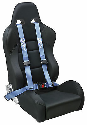 Sumex Race Sport Brand 4 Point Safety Track Car Racing Seat Belt Harness - Blue
